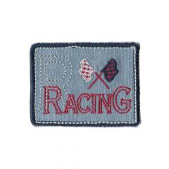 Applicatie Racing blauw - 5st