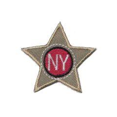 Applicatie Ster beige/blauw NY - 5st