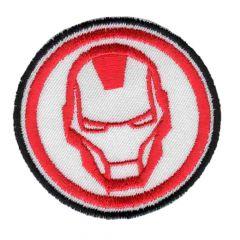 Applicatie Button Iron Man geborduurd - 5st