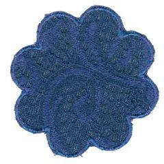 Applicatie bloem blauw (donker/licht) - 5st