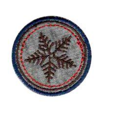 Applicatie Sneeuwvlok bruin - 5st