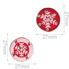 Applicatie Set Sneeuwvlok rood-roze 2 stuks - 5 sets