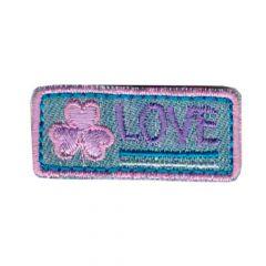Applicatie Love paars-roze - 5st