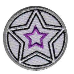 Applicatie Button beige met sterren - 5st