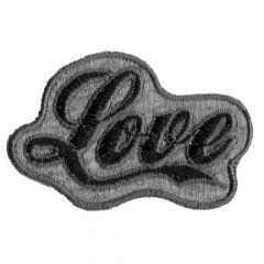 Applicatie Love zwart-grijs - 5st