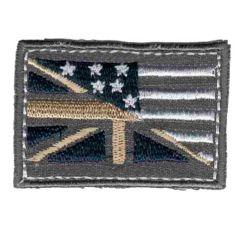 Applicatie Vlag grijs - 5st
