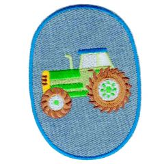 Applicatie Kniestuk jeans met tractor - 5st