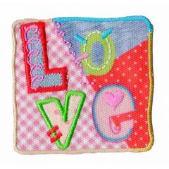 Applicatie Vierkant Love - 5st