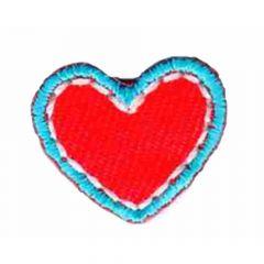 Applicatie Hart klein rood-blauw/blauw/groen - 5st
