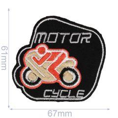 Applicatie Motorcycle zwart/grijs - 5st