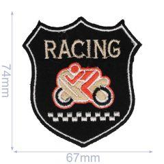 Applicatie Wapen Racing zwart - 5st