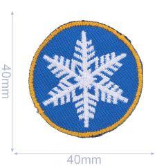 HKM Applicatie sneeuwvlok cirkel - 5st