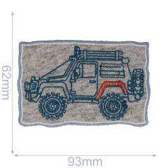 HKM Applicatie jeep 95x60mm grijs-blauw - 5st