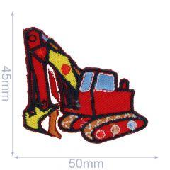 HKM Applicatie graafmachine 50x45mm rood - 5st