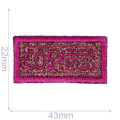 Applicatie COSYNESS glitter in roze/zwart/brons - 5st