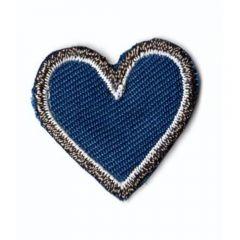 Applicatie Hart blauw klein - 5st