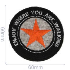 HKM Applicatie enjoy where you are walking 60x60mm - 5st
