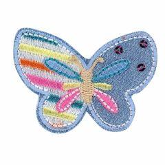 Applicatie Vlinder op jeans - 5st