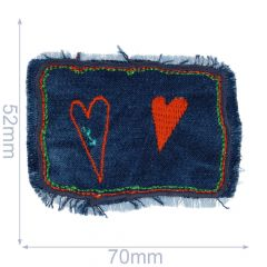Applicatie Hartjes op jeans - 5st