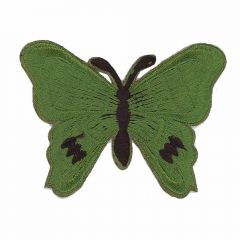 Applicatie Vlinder donkergroen - 5st
