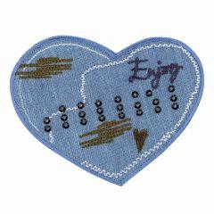 Applicatie Hart ENJOY jeans - 5st