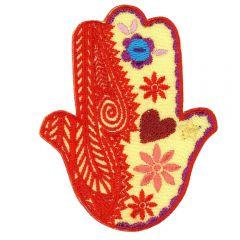 Applicatie Handje van Fatima oranje - 5st