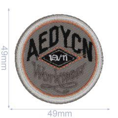 Applicatie Cirkel Aedycn oranje-grijs - 5st