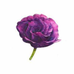 Applicatie Roos paars - 5st