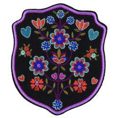 HKM Applicatie Bloemen met roze rand - 5st
