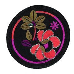 HKM Applicatie Cirkel met bloemen - 5st