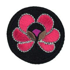 HKM Applicatie Cirkel met bloem - 5st