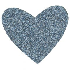 HKM Applicatie hart glitter - 5st