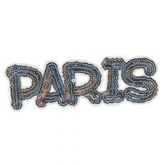 HKM Applicatie Paris-London-New York met pailletten - 5st