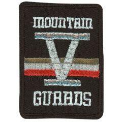 HKM Applicatie mountain Guaads beige-zilver-rood - 5st