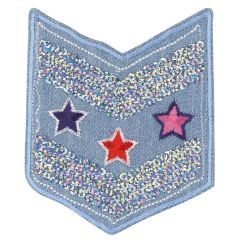 HKM Applicatie military wapen jeans met sterren - 5st