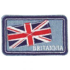 HKM Applicatie Britannia en vlag jeans - 5st