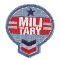 HKM Applicatie military wit op jeans - 5st