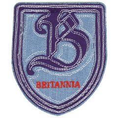 HKM Applicatie Britannia rood-blauw-wit wapen - 5st