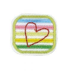 HKM Applicatie hart in een vierkant - 5st