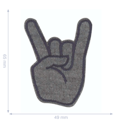 HKM Applicatie rockstar teken - 5st