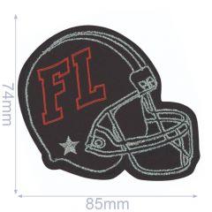 HKM Applicatie footballhelm FL 85x74mm - 5st