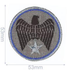 HKM Applicatie adelaar in cirkel 53x53mm - 5st