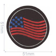 HKM Applicatie stars-stripes 51x51mm - 5st