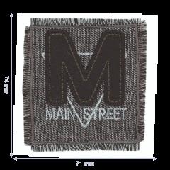 HKM Applicatie main street grijs-zwart - 5st