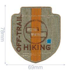 HKM Applicatie hiking 69x78mm - 5st