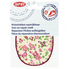 Opry Kniestukken opstrijkbaar bloem 11,5x9cm - 5st - 47