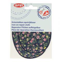 Opry Kniestukken opstrijkbaar bloem - 5st