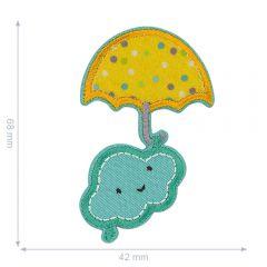HKM Applicatie wolk met paraplu - 5st