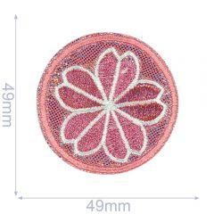 HKM Applicatie bloem in cirkel - 5st