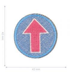 HKM Applicatie pijl roze in cirkel - 5st